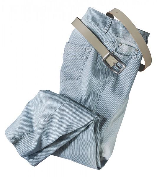 Serafini Streifen-Jeans,5-Pocket