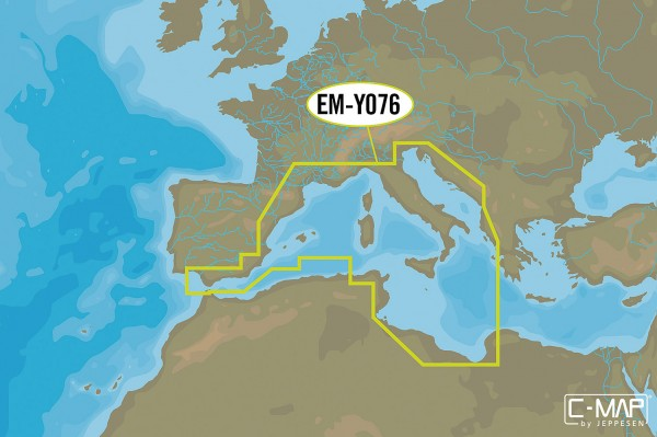C-MAP Wide: EM-YO76 Côte sud-ouest Europe