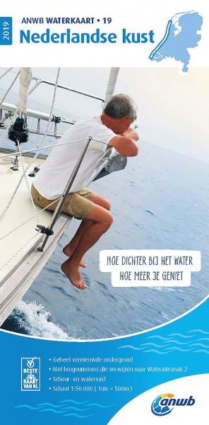 ANWB Waterkaart #19 Nederlandse Kust