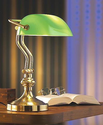 Bankers Lamp Messing