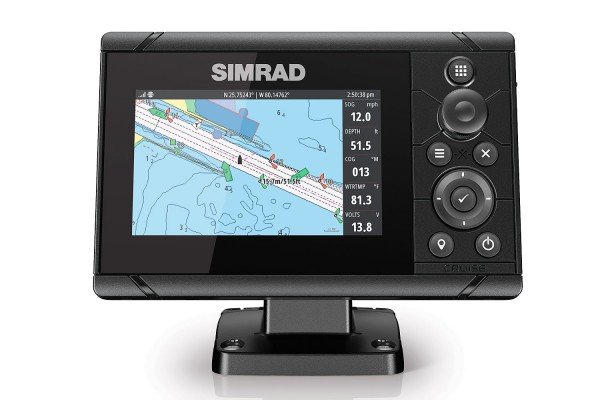 Simrad Cruise 5´ Kartenplotter GPS inkl. 83/200 Geber