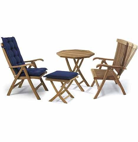 Adjustable Teak Folding Chair