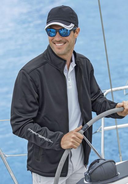 Navy pool softshell jacket
