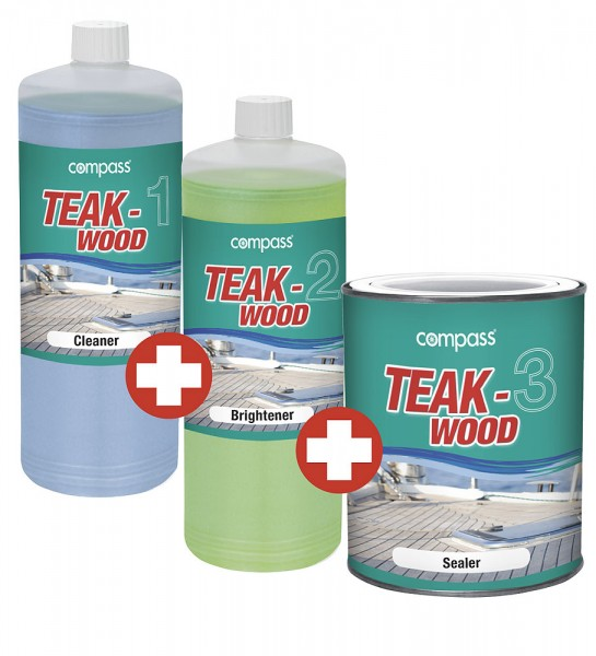 Compass Teakwood Cleaner (set of 3)