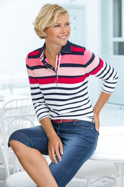 Hajo Streifen-Poloshirt