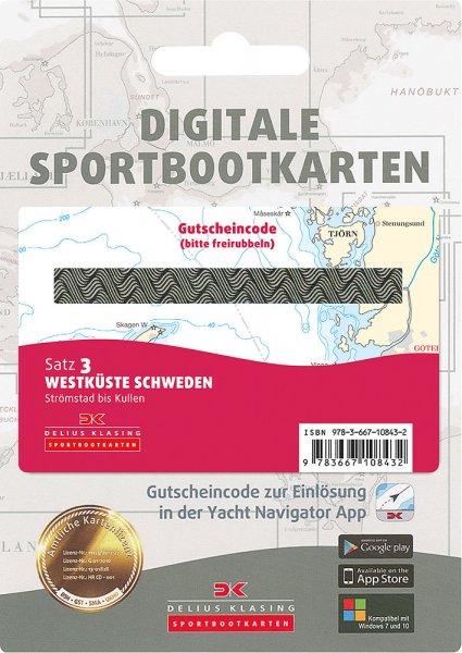 Digitale Sportbootkarte Satz 3