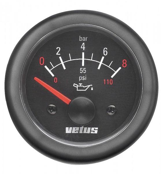 Manomètre de pression d'huile moteur Vetus
