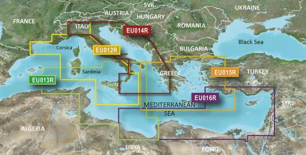 Garmin BlueChart g2 VEU014R - Italië, Adriatische Zee