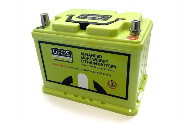 LIFOS Li ion battery LIFEPO4 incl. battery management system