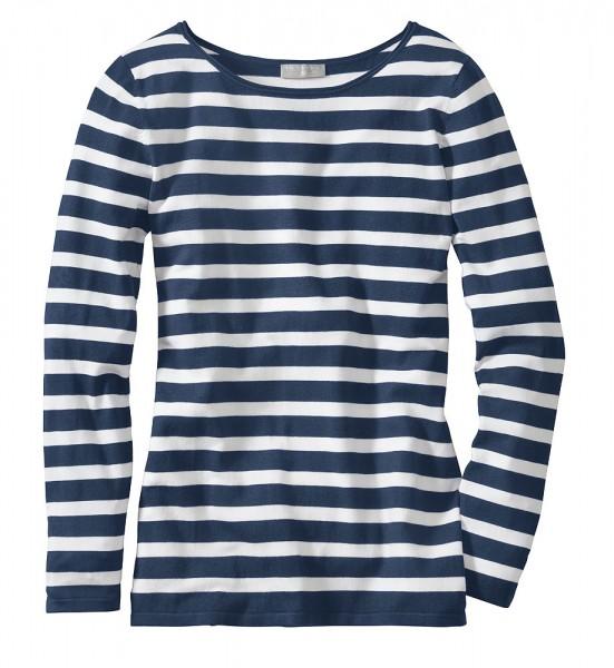 Streifen-Pullover, Langarm