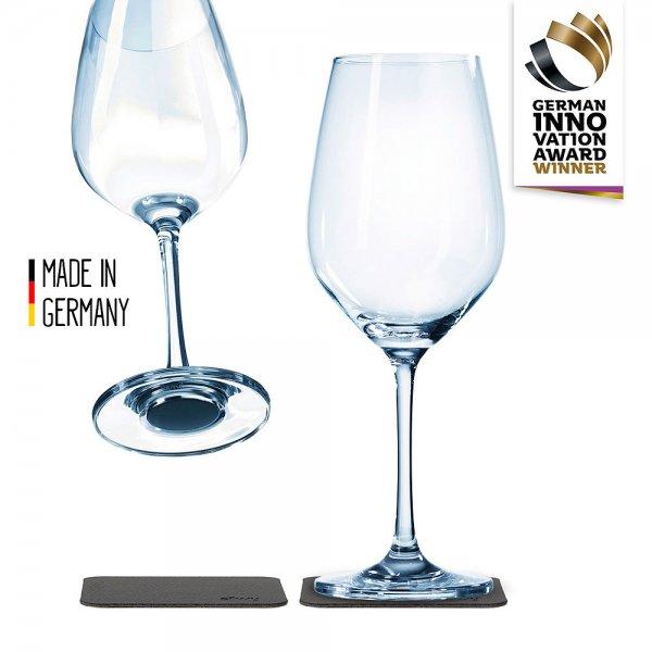 Silwy Wein-Kirstallglas mit Magnet, 2er-Set
