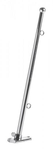 Flag pole with 70° bracket