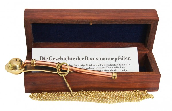 Bootsmannspfeife in Holzbox