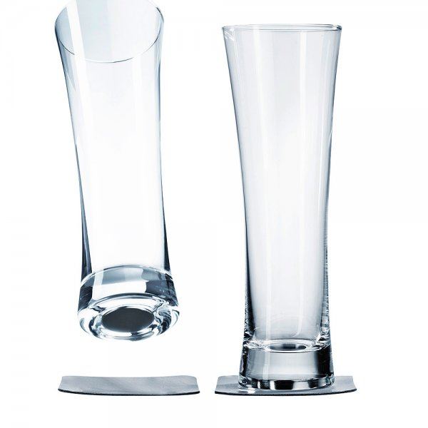 Beer glass with magnet, set of 2