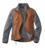 Linea Primero Strickfleece-Jacke curry/anthrazit D: 36