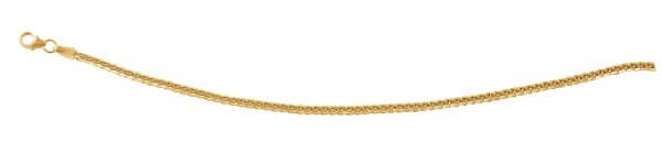 Kette in Flechtoptik 45 cm Gelbgold