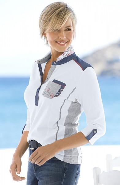 Hajo Poloshirt mit 3/4 Arm