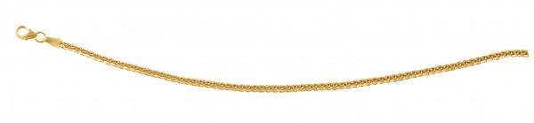 Kette in Flechtoptik 42 cm Gelbgold