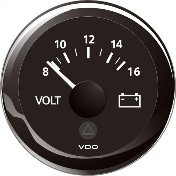 Voltmeter 52 mm weiss