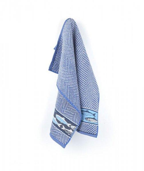Handtuch Fish Royal Blue 53x60cm