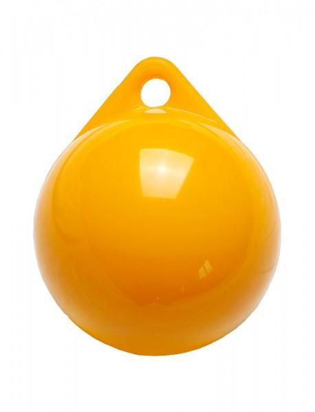 Yellow mooring buoy