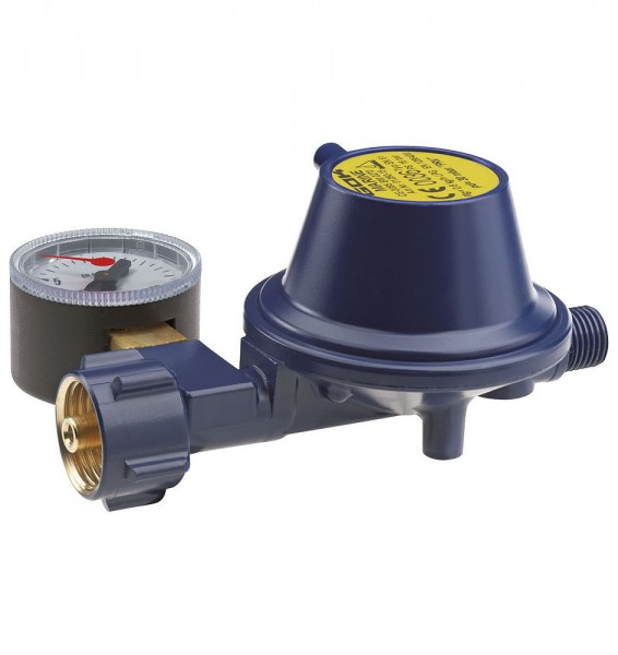 Low-pressure regulator + manometer. 30 mbar