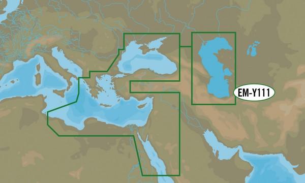 C-MAP Wide: EM-Y111 Méditerranée orientale et Mer Noire MAX-N+