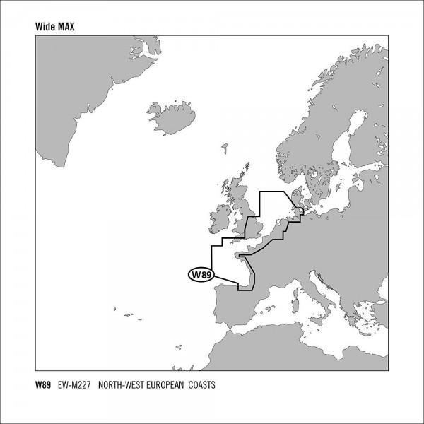 C-MAP MAX Wide Nord-West Europäische Küste EW-M227 SD Chart