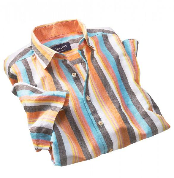Haupt Streifen-Leinenhemd