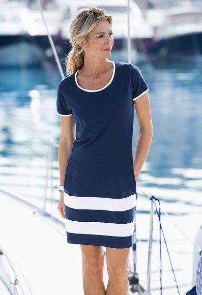 Linea il mare Jerseykleid maritim