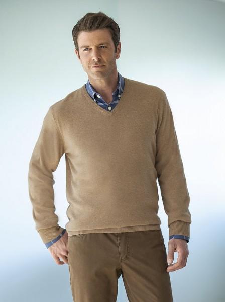 Kaschmir-Pullover, V-Ausschnitt