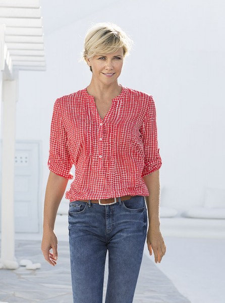 Anna Larssen Shirtbluse mit Alloverdruck