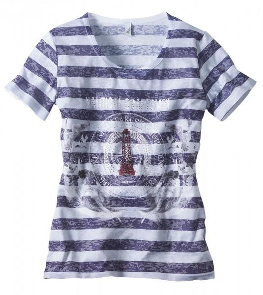 T-Shirt mit Druck und Applikation