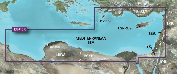 Garmin BlueChart g2 HXEU016R - Mittelmeer Südost HEU016R - Mediterranean Southeast