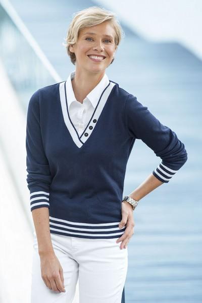 Anna Larssen 2-in-1 Pullover, Langarm