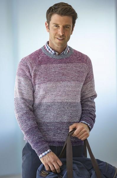 Streifenverlauf-Pullover