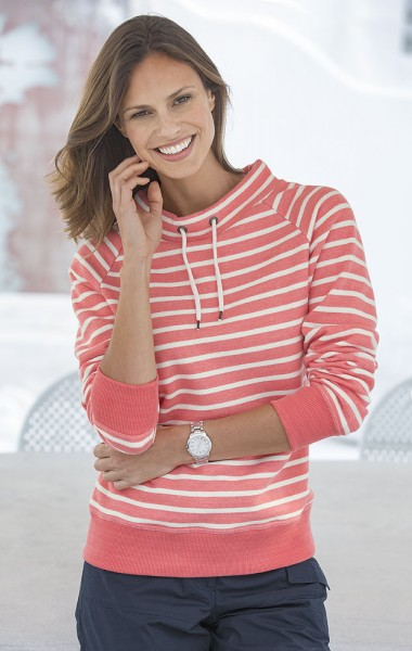 Streifen-Sweater, Langarm
