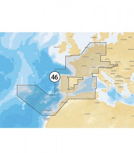 Navionics Gold XL9: 46XG Holland, Frankreich, Spanien & EU Binnen
