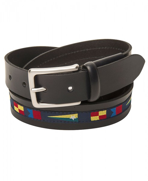 Leather belt in maritime style