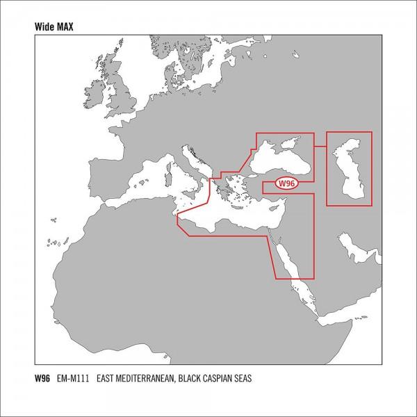 C-MAP MAX Wide C-Card Östliches Mittelmeer & Schwarzes Meer EM-M111