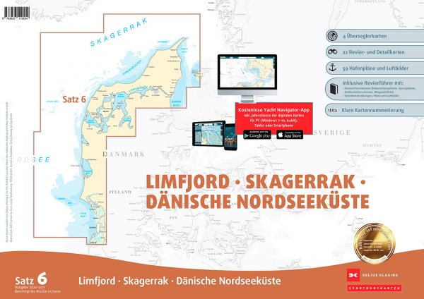 Delius Klasing Satz 6: Limfjord Skagerrak dänische Nordseeküste