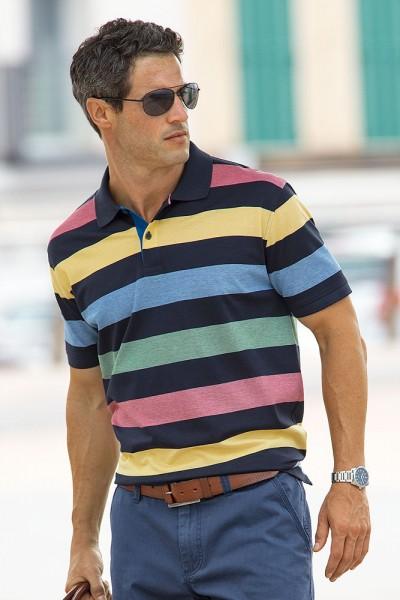 Kitaro Streifen-Poloshirt