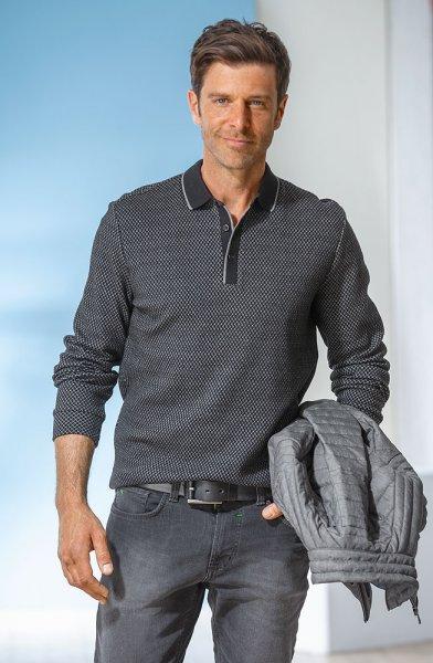 Pierre Cardin Jacquard-Poloshirt
