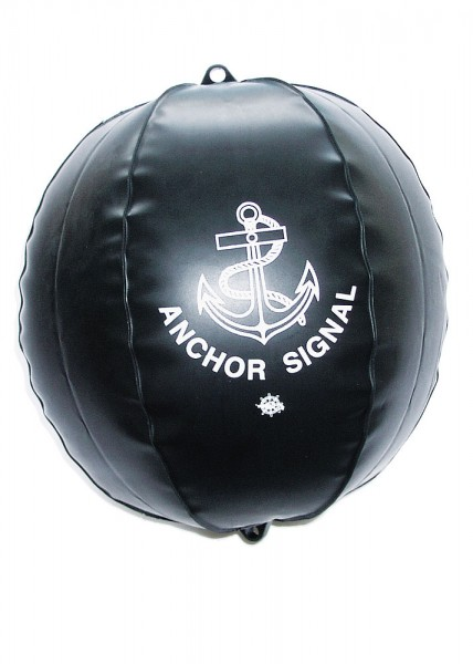 Signal ball, inflatable, black