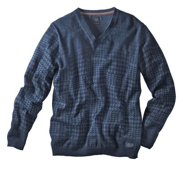 Kitaro Druck-Pullover, V-Ausschnitt
