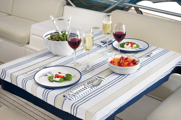 """Welcome On Board"" Ship Crockery Set, 15-Piece"