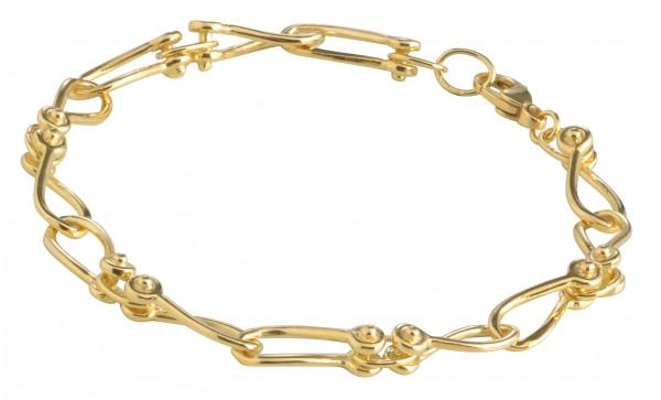 Schäkel-Armband goldplattiert