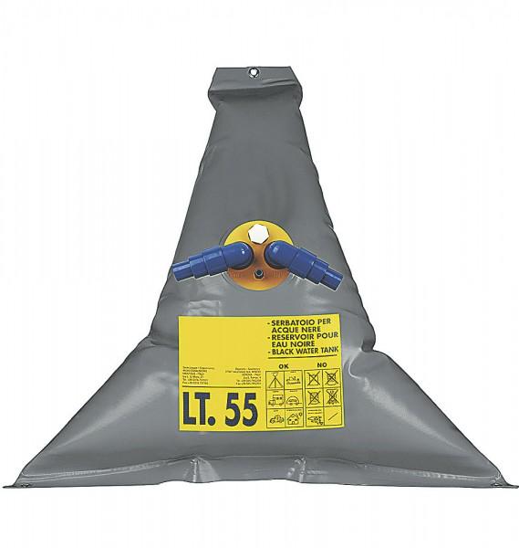 Réservoir à matières triangulaire souple