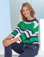 Betty Barclay Streifen-Sweatshirt marine/grün/weiss D: 36