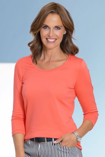 Anna Larssen Basic-Shirt mit 3/4 Arm